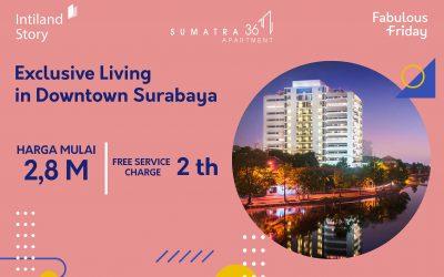 Nikmati kenyaman tinggal di hunian eksklusif di pusat kota Surabaya
